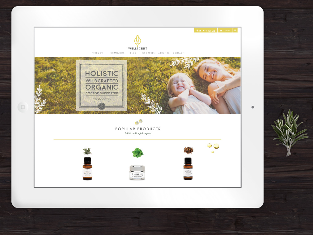 apothecary website design and branding