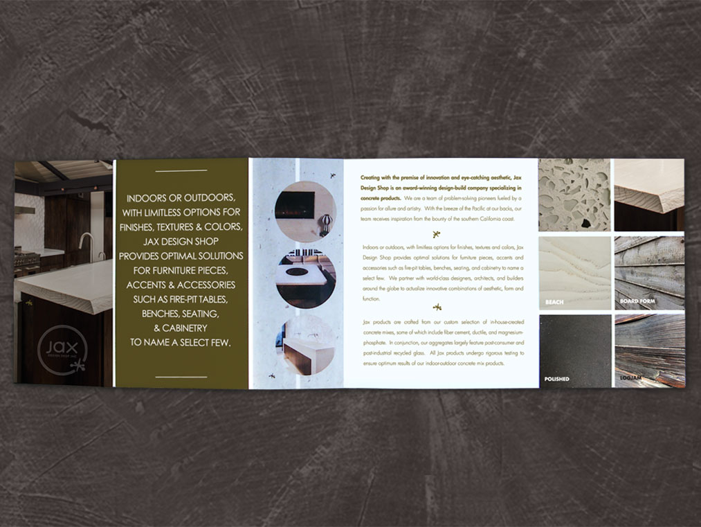 architectural concrete brochure design