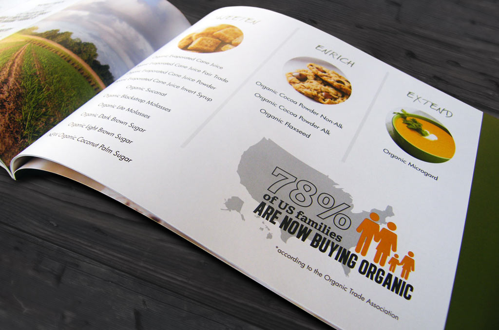 organic food booklet design