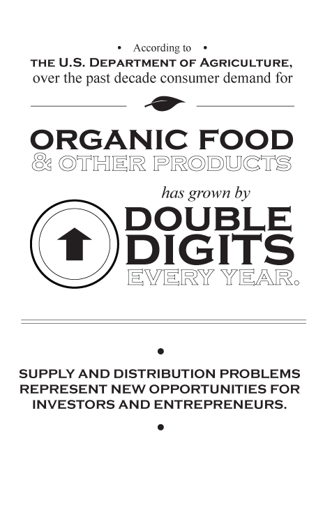 statistics of growth of organic food products